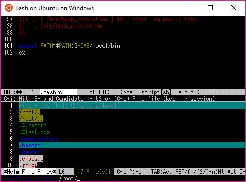 Auto completionもHelmも動く。